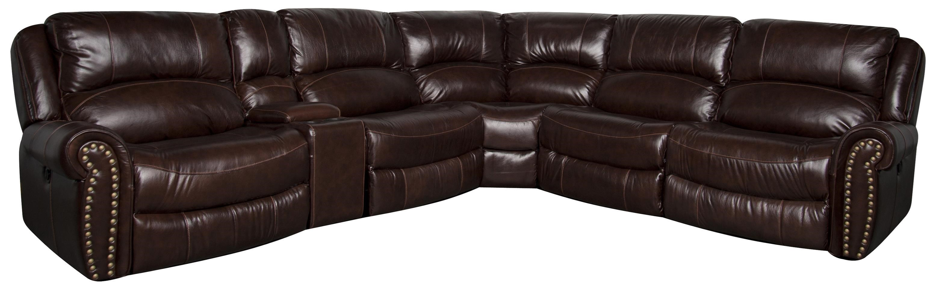 Morris Home FlemingFleming Leather Match* PWR Sectional ...
