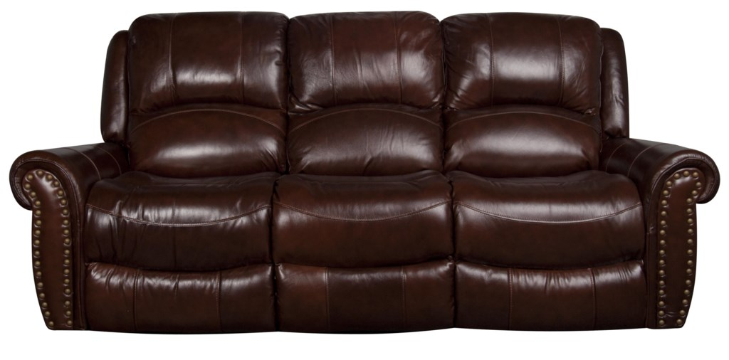 Fleming Dual Power Leather Match Reclining Sofa Morris Home  ~ Leather Dual Reclining Sofa