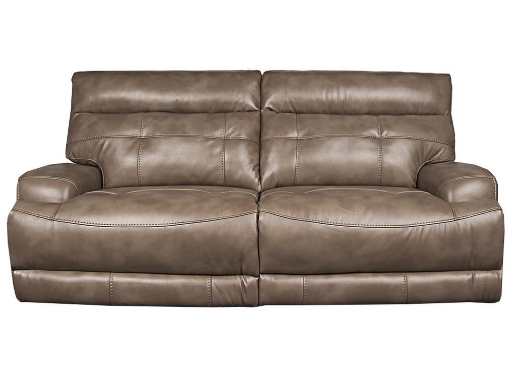 Lera modern power reclining sofa with power headrest