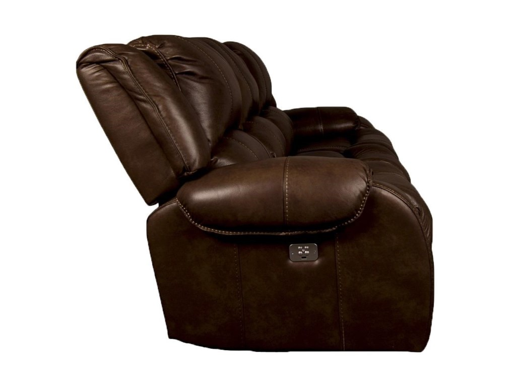 Morris Home NolaNola Leather Match Power Reclining Sofa
