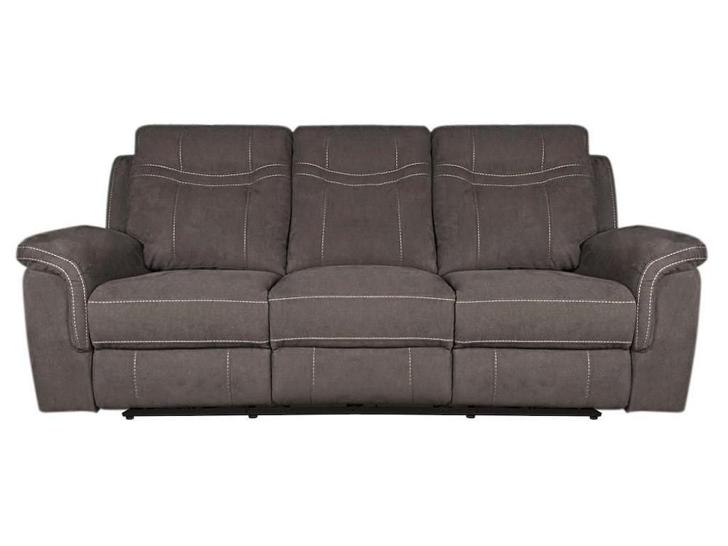 Pratt Modern Power Reclining Sofa with Power Headrest | Morris Home ...