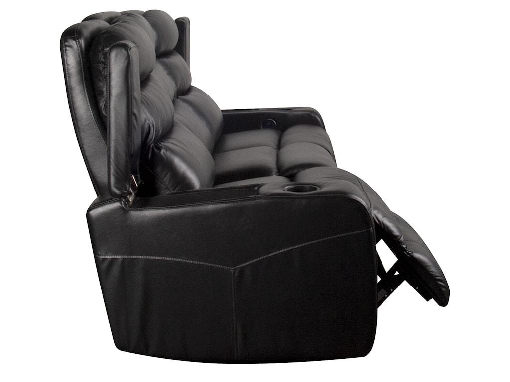Morris Home RobertRobert Leather Match Power Reclining Sofa