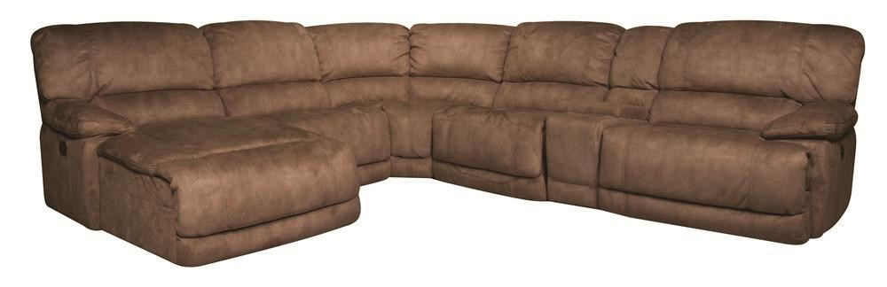 Morris home sandrasandra 6 piece power reclining sectional