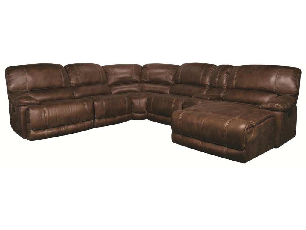 Sandra 6-Piece Power Sectional | Morris Home | Reclining Sectional Sofas