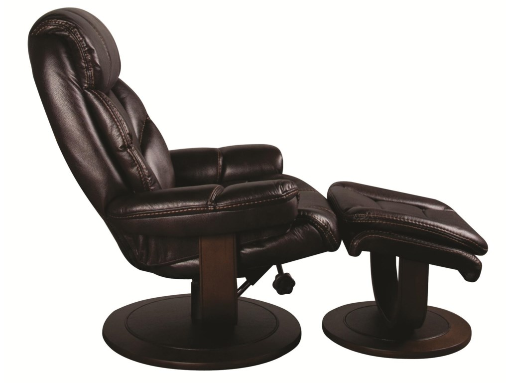 Morris Home SaulSaul Swivel Recliner with Ottoman