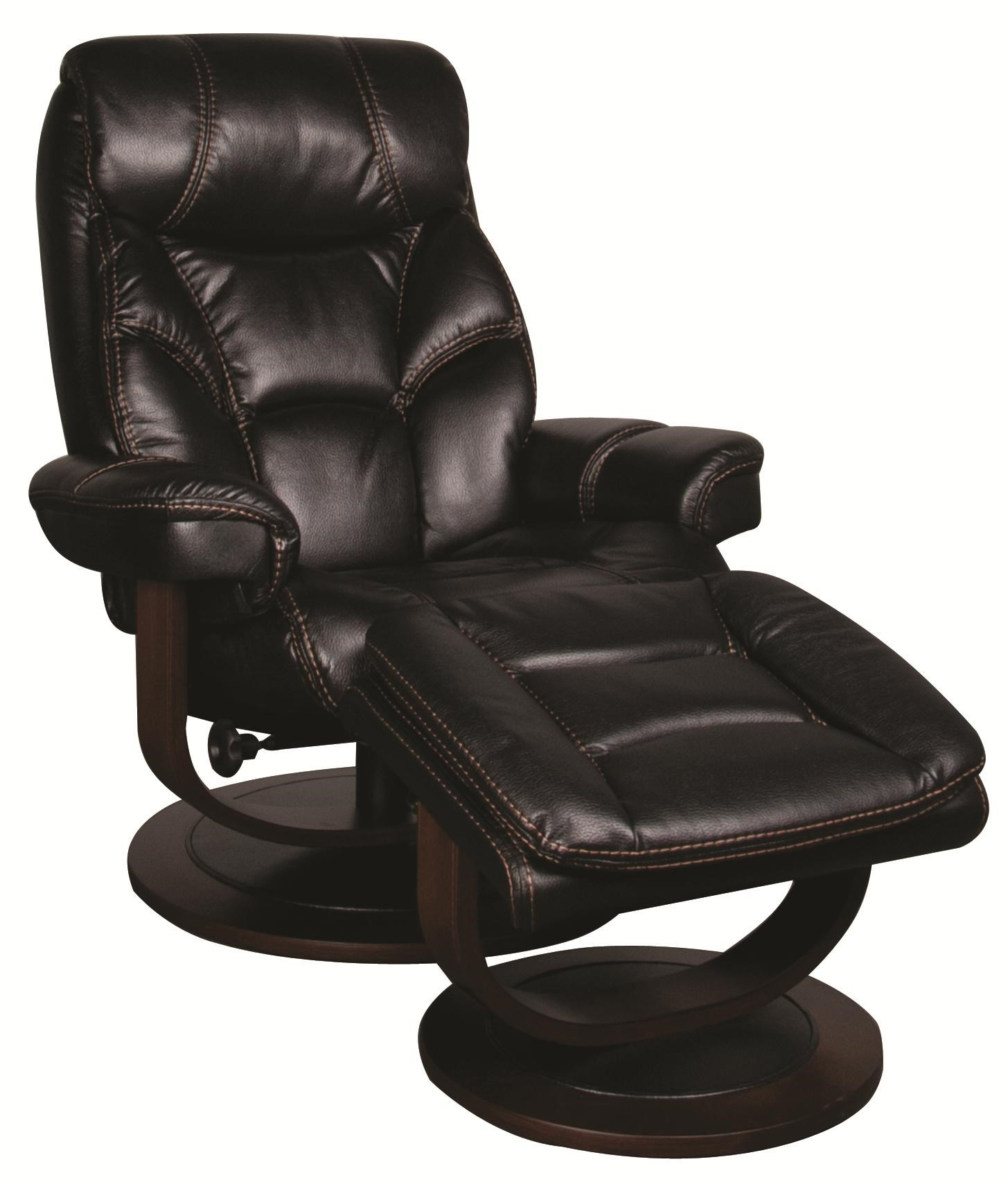 Morris Home SaulSaul Swivel Recliner With Ottoman ...