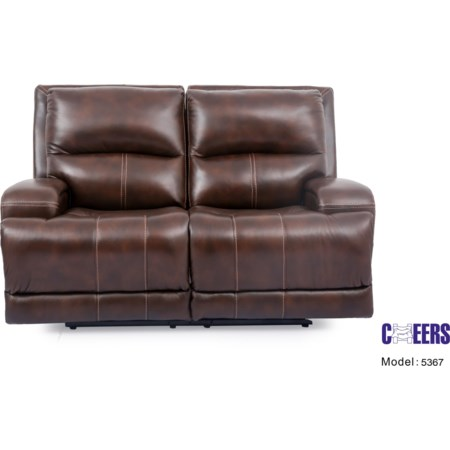 Triple Play Leather Love Seat