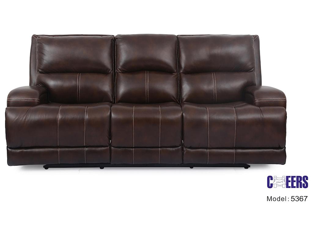 Cheers Sofa U5367Triple Play Leather Sofa