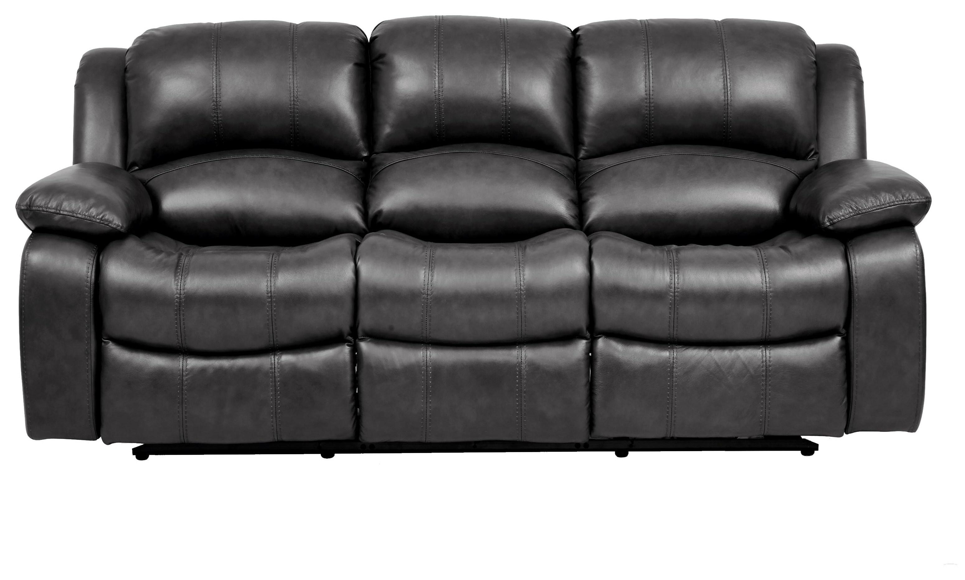 Greystone Leather Reclining Sofa