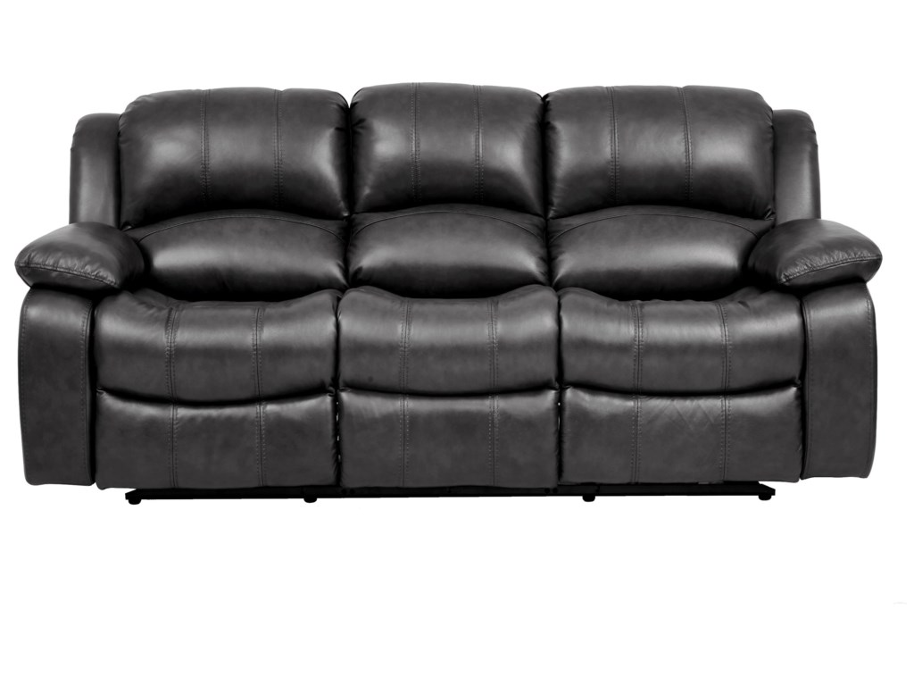 Greystone Leather Reclining Sofa by Cheers at Royal Furniture