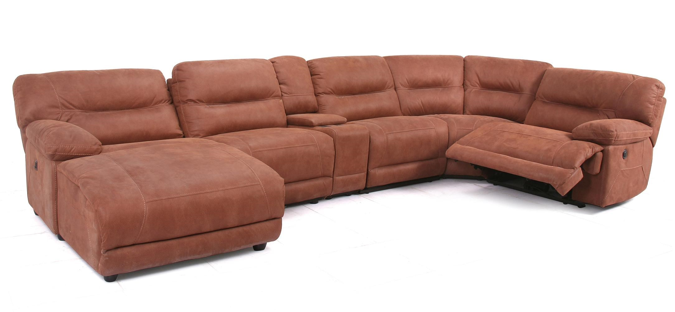 Marvelous Casual Reclining Sectional With Chaise U0026 Console