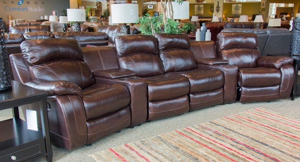 Cheers Sofa Luke Luke Leather 4 Seat Reclining Theater Sectional - Great American Home Store - Theater Seating & Cheers Sofa Luke Luke Leather 4 Seat Reclining Theater Sectional ... islam-shia.org