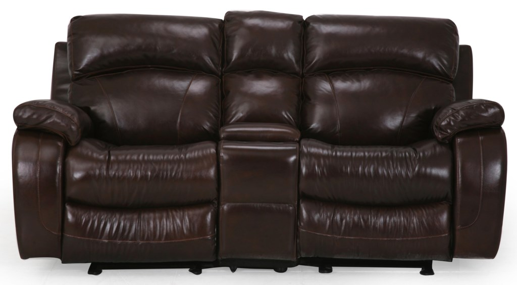 Cheers Sofa Luke Console Loveseat Great American Home Store  ~ Sofa Recliner With Console