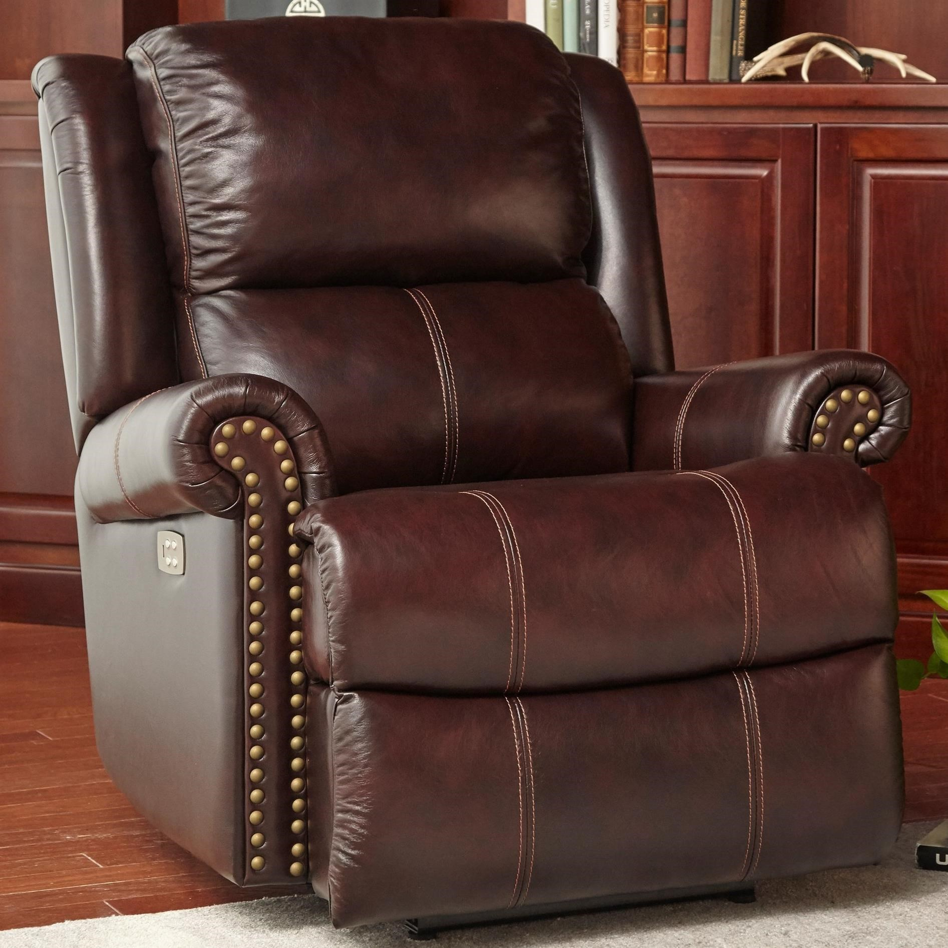 Cheers Sofa Brooks Brooks Pecan Power Recliner with Power Headrest - Great American Home Store - Three Way Recliners  sc 1 st  Great American Home Store & Cheers Sofa Brooks Brooks Pecan Power Recliner with Power Headrest ... islam-shia.org