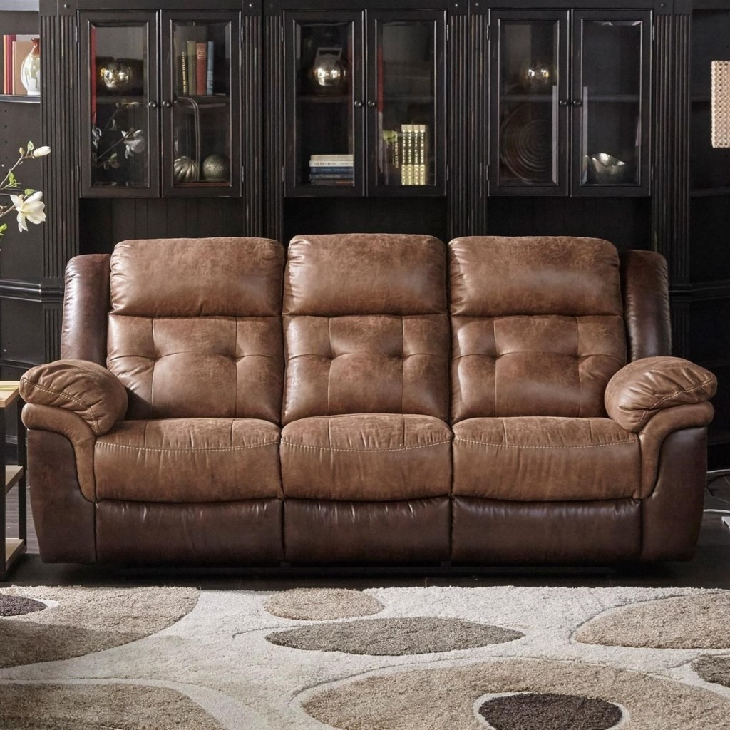 Cheers Sofa Houston Dual Two Tone Reclining Sofa - Great American Home  Store - Reclining Sofas