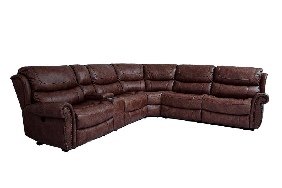 Cheers Sofa Tobacco 6 Piece Power Reclining Sectional