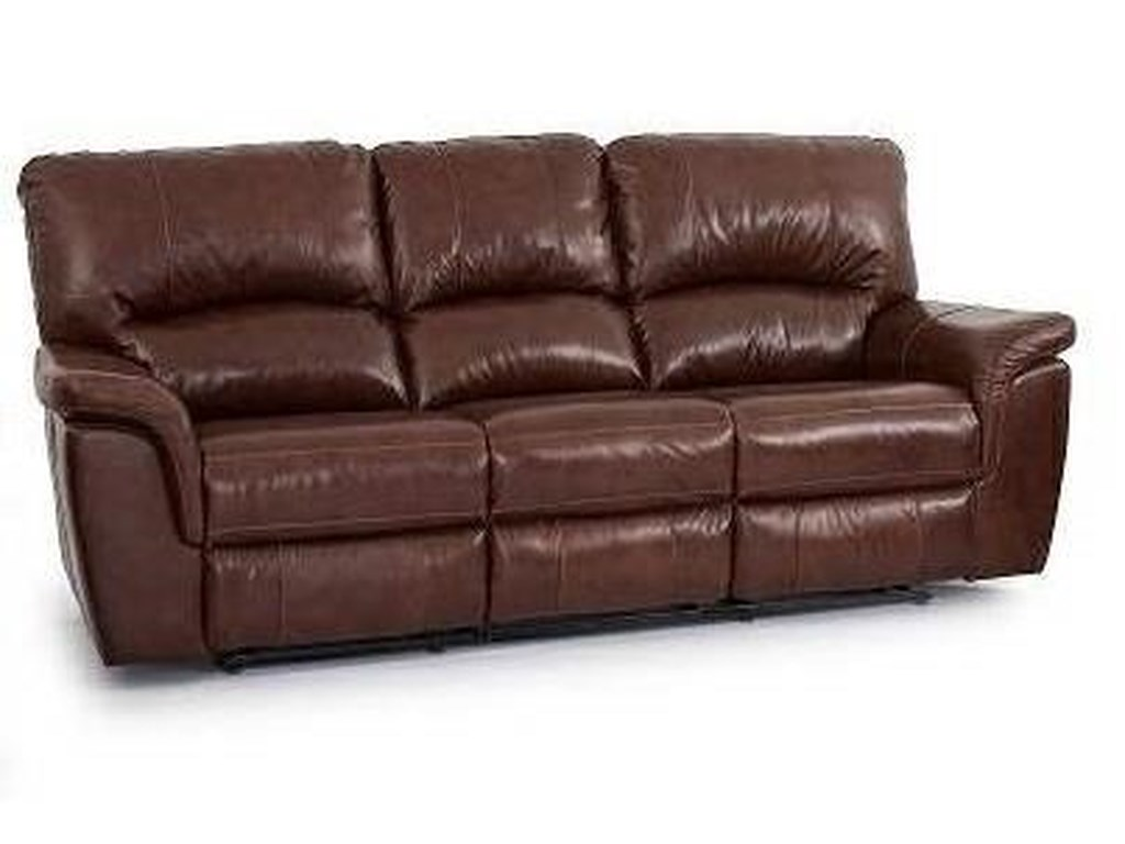 Leather Dual Reclining Sofa Porter Ramsey Cognac Brown Top