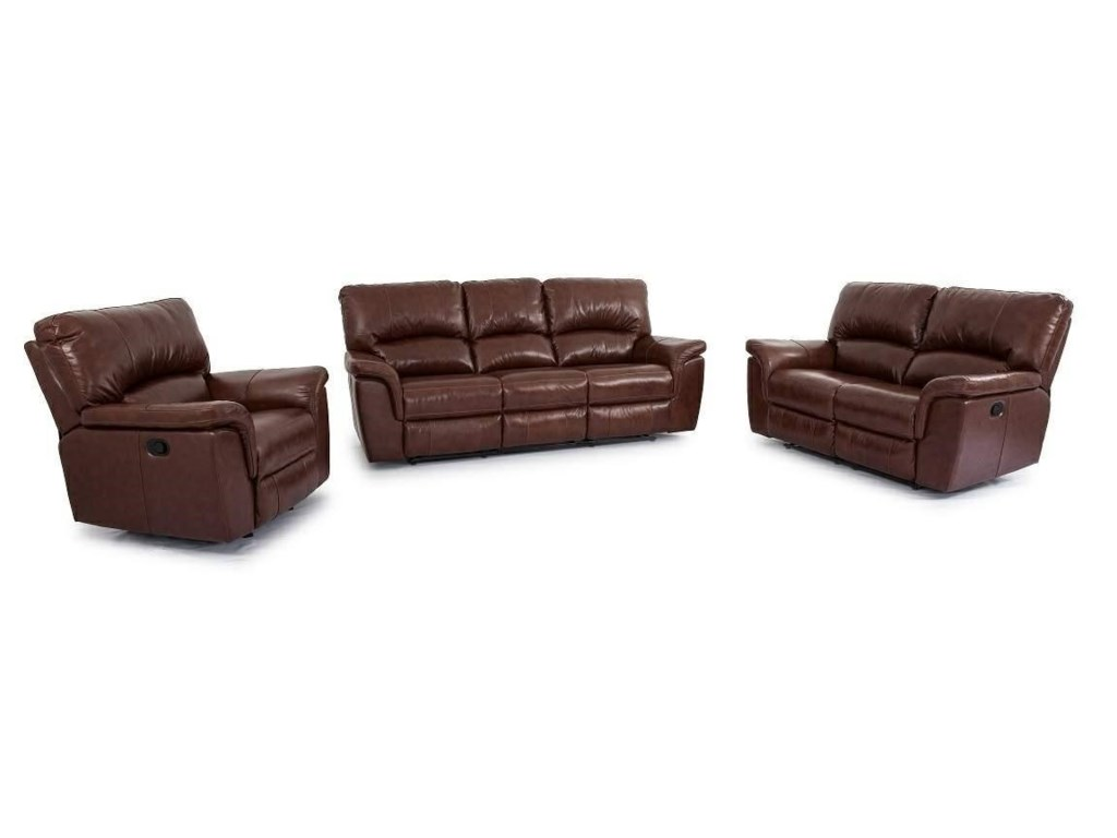 Brandy Leather Dual Reclining Sofa by Cheers Sofa at Great American Home  Store
