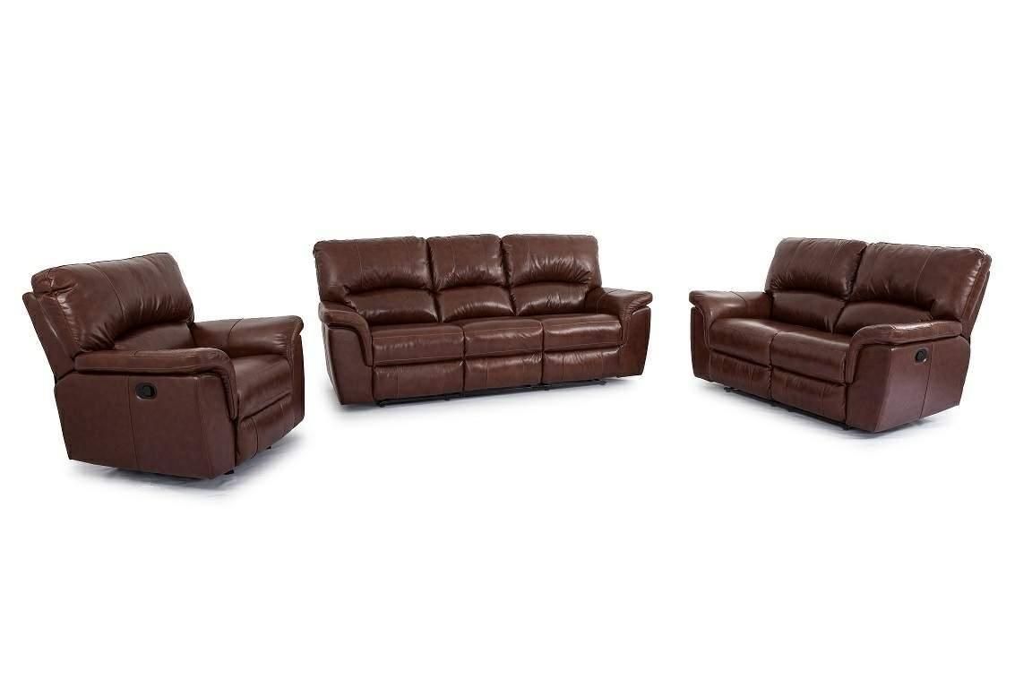 ... Cheers Sofa BrandyLeather Dual Reclining Sofa