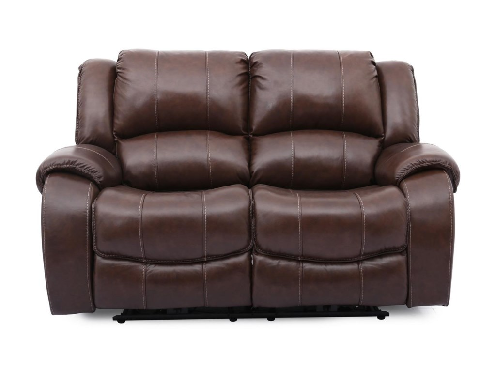 Cheers EvanBrown Lthr Pwr Reclining Loveseat w/Pwr Head