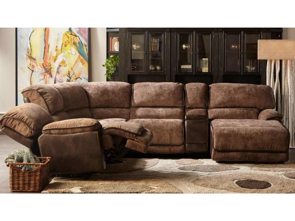 Cheers X8706MPower Reclining Sectional with Chaise