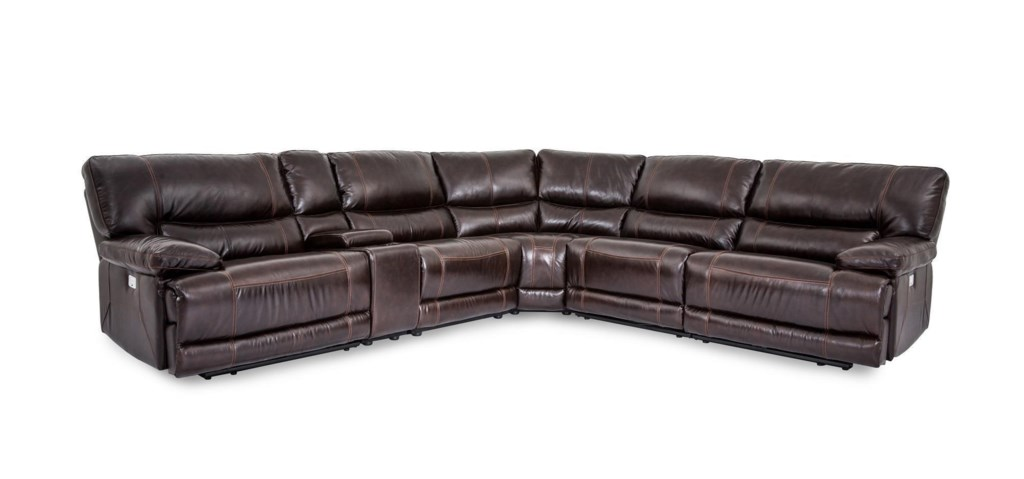 Cheers Sofa X9509m X9509m Collins Leather Power Reclining 6 Piece  ~ Replacement Cup Holders For Sofa