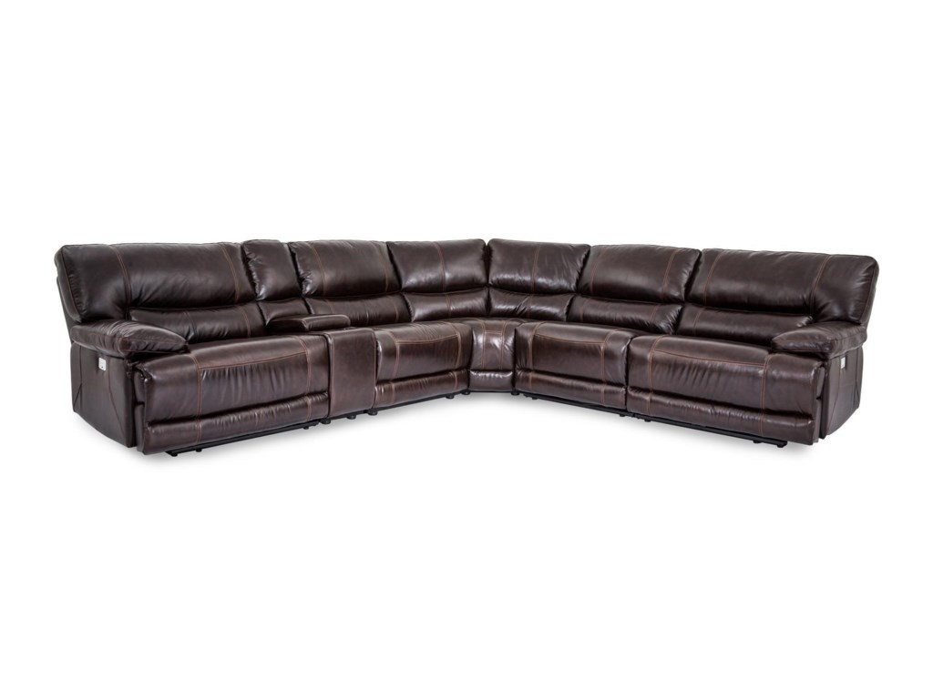 Cheers Sofa X9509mcollins Leather Reclining 6 Piece Sect