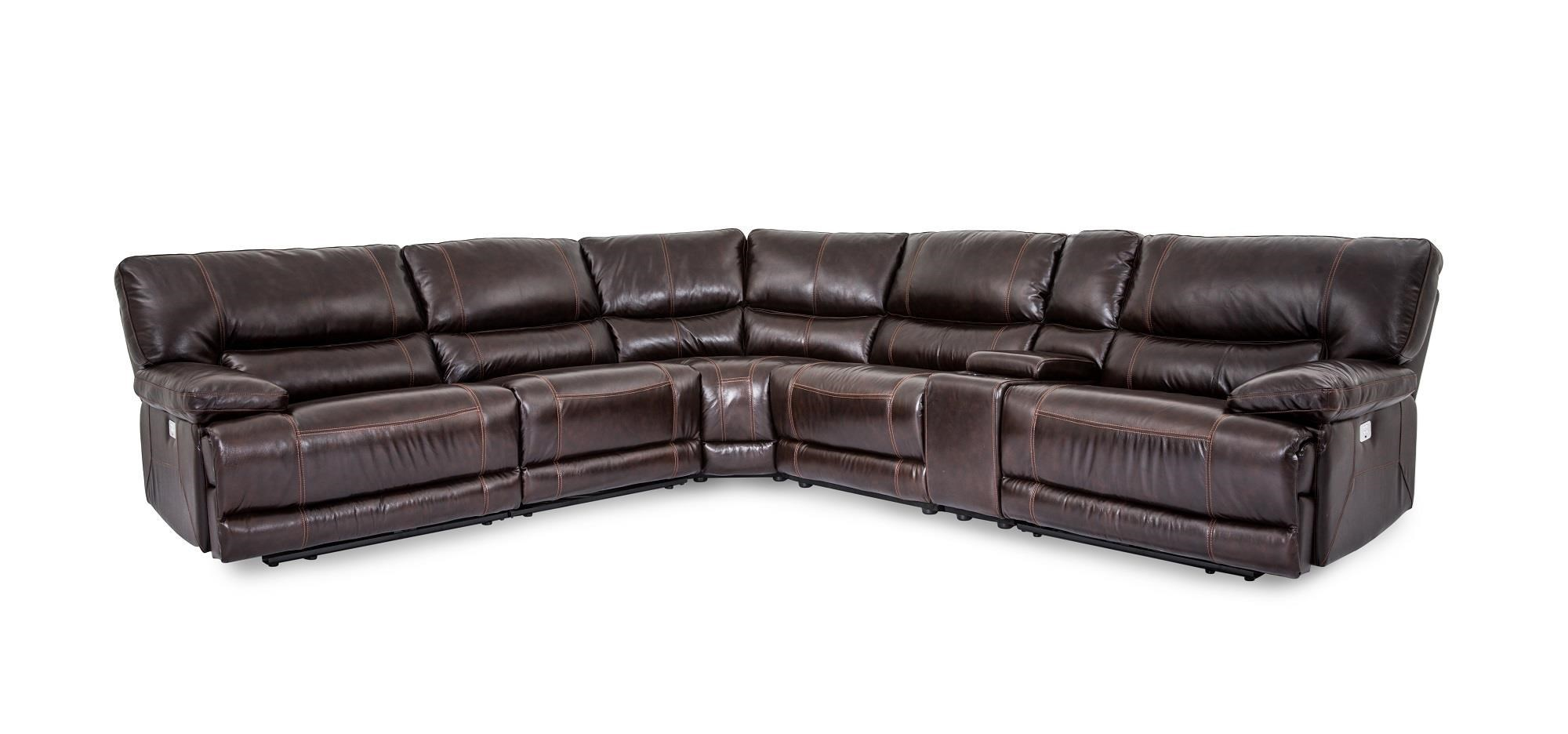 Cheers Sofa Collins Leather Power Reclining 6 Piece Sectional - Great American Home Store - Reclining Sectional Sofas  sc 1 st  Great American Home Store & Cheers Sofa Collins Leather Power Reclining 6 Piece Sectional ... islam-shia.org