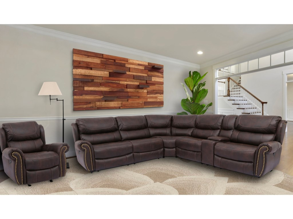 Cheers Steely Dan LeatherPower Reclining Sectional