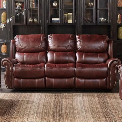 Dual Reclining Sofa With Nailhead Trim Xw1012m Qs By Cheers Sofa Wilcox Furniture