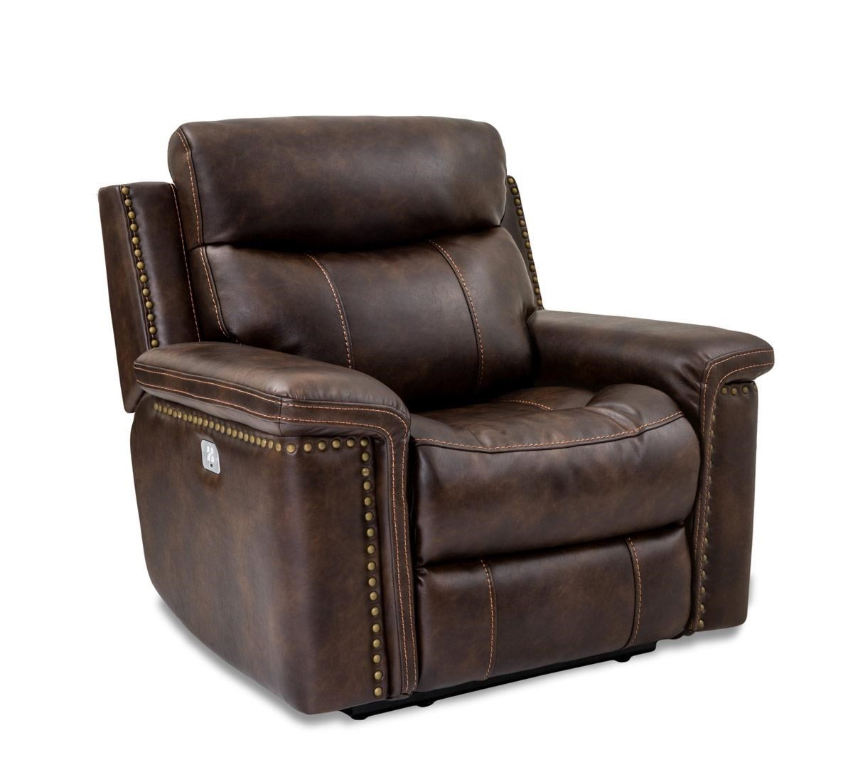 Cheers Sofa Phoenix Leather Power Recliner with Power Head u0026 Footrests - Great American Home Store - Three Way Recliners  sc 1 st  Great American Home Store & Cheers Sofa Phoenix Leather Power Recliner with Power Head ... islam-shia.org