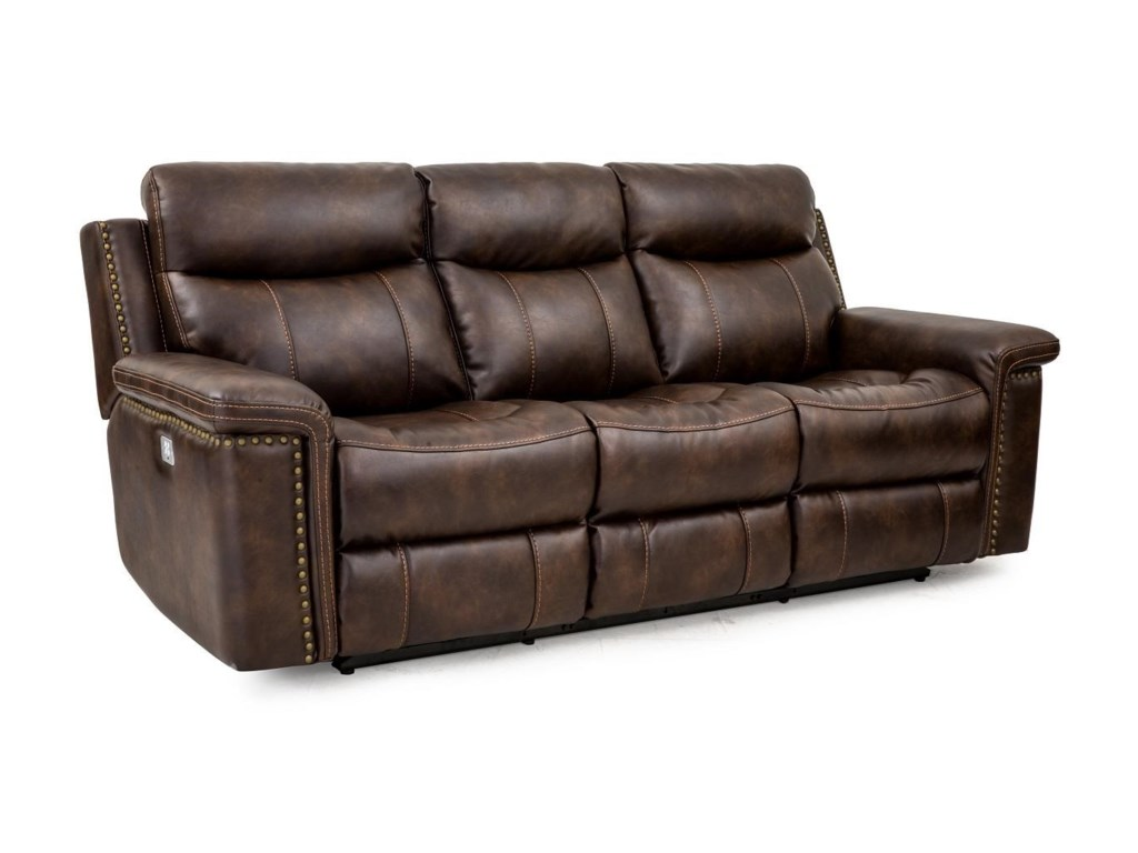 Phoenix Leather Power Reclining Sofa with Power Head & Footrests by Cheers  Sofa at Great American Home Store