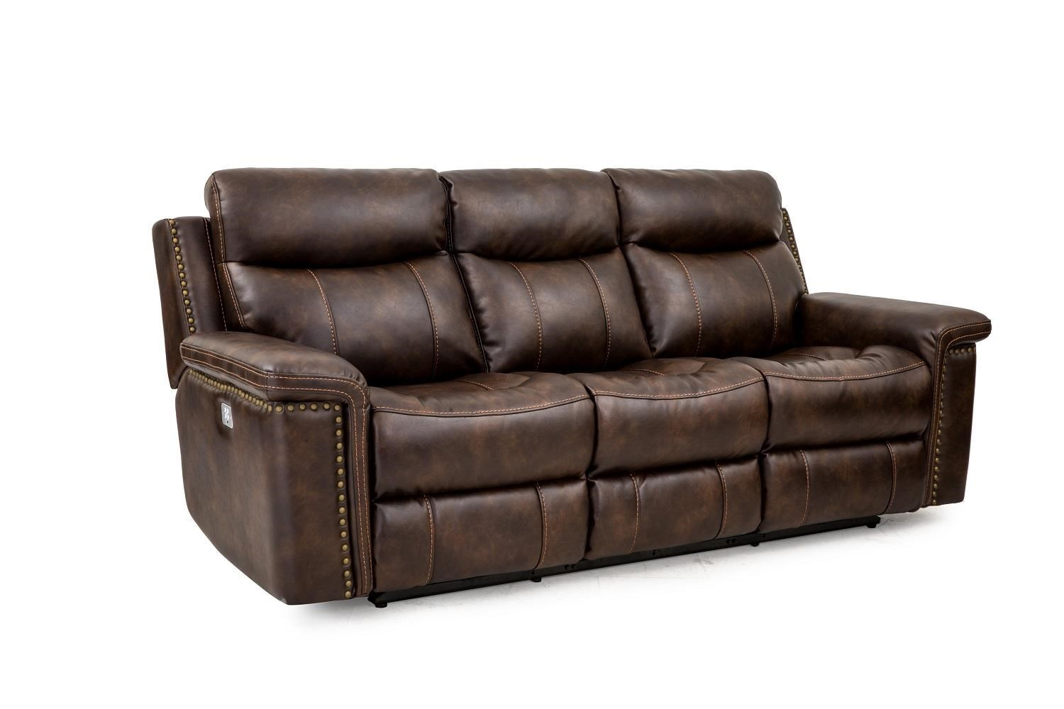 Cheers Sofa PhoenixLeather Pwr Recl Sofa W/Pwr Foot U0026 Head