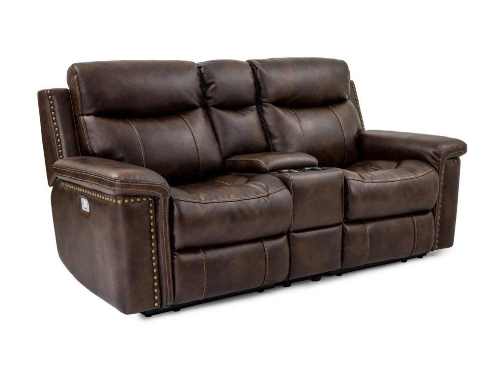 Cheers Sofa PhoenixLeather Pwr Recl Console Loveseat w/Pwr Head