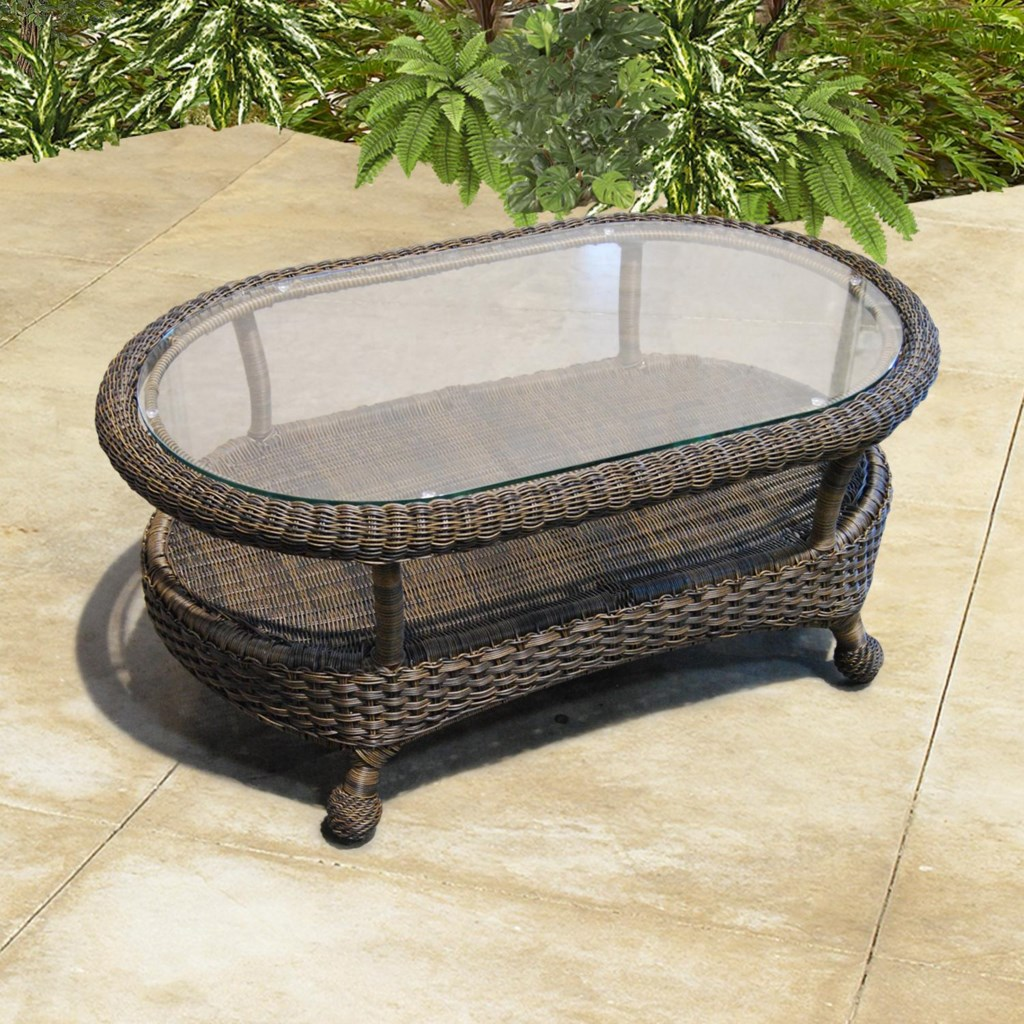 northcape international monaco nc woven oval outdoor coffee table