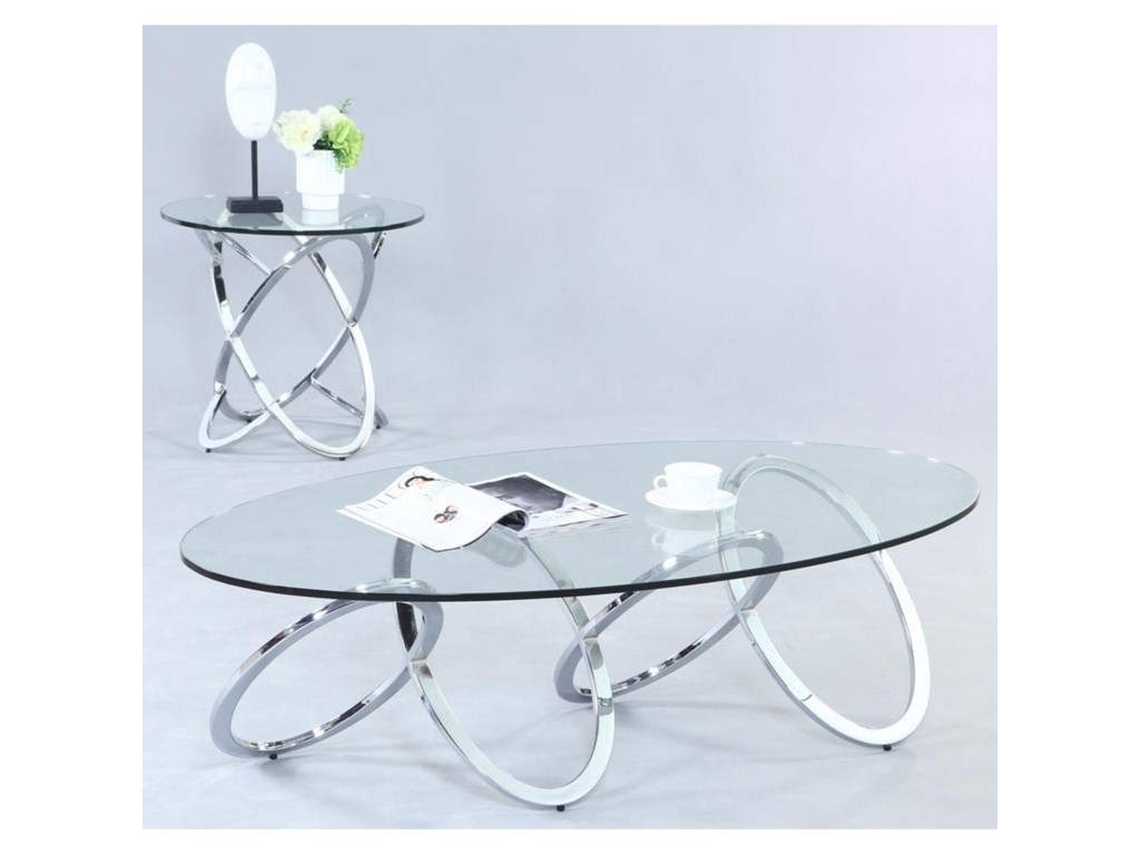 Chintaly Imports 4036Oval Cocktail Table