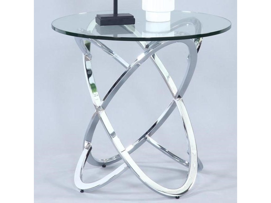 Chintaly Imports 4036Round Lamp Table