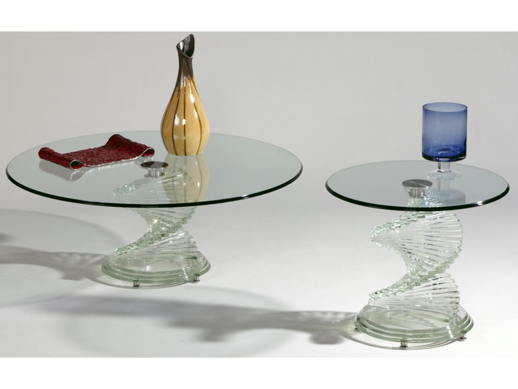 Chintaly Imports 7201 Glass Lamp Table