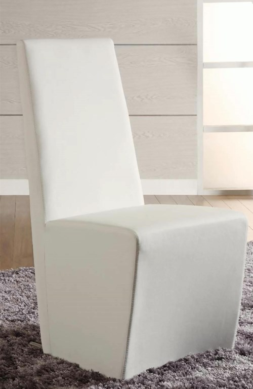 Chintaly Imports Cynthia White Side Chair