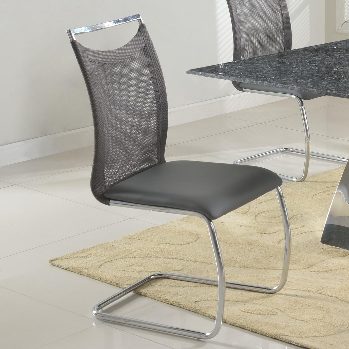 Chintaly Imports IngridMeshed Back Cantilever Side Chair ...