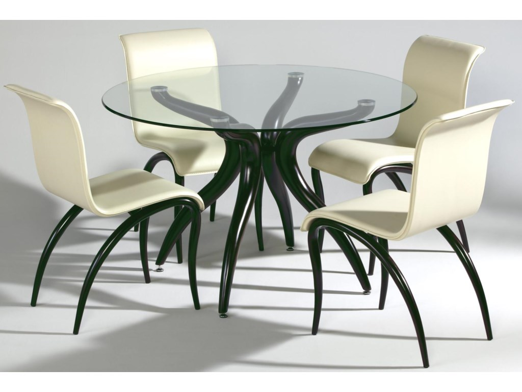 Side Chair Shown with Round Table