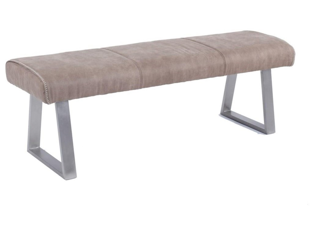 Kalinda Upholstered Dining Bench With Stainless Steel Legs By Chintaly Imports