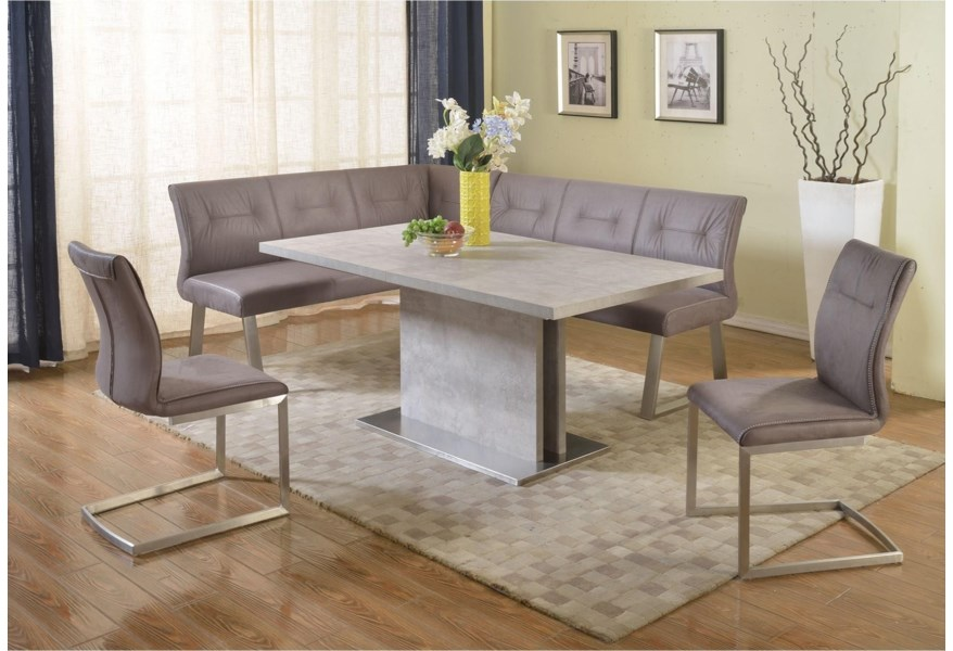 Chintaly Imports Kalinda Tufted Back Reversible Nook Bench Darvin Furniture Dining Benches
