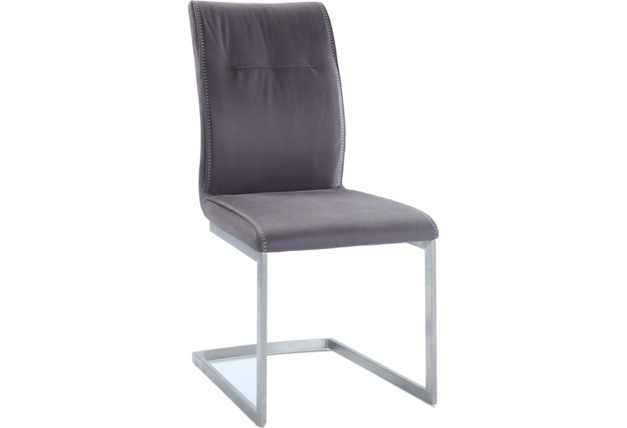 Chintaly Imports Kalinda Kalinda Sc Gry Upholstered Cantilever Side Chair Corner Furniture Dining Side Chairs