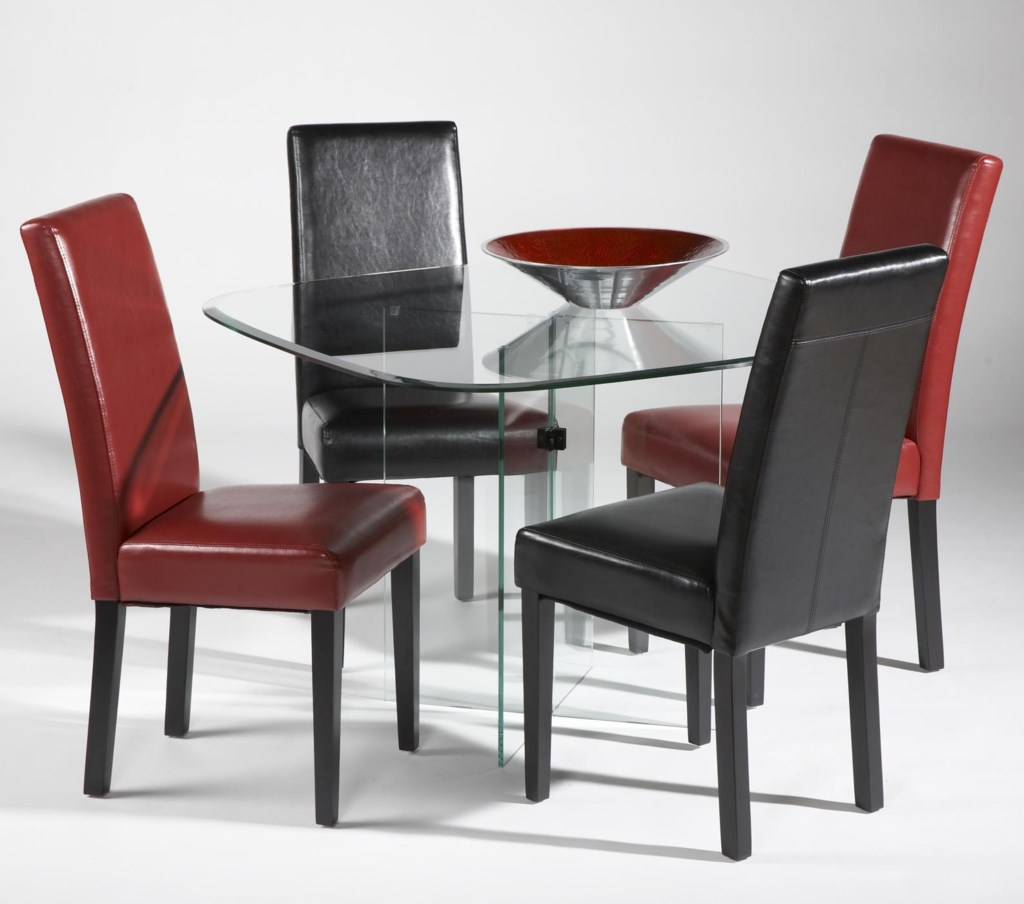 Chintaly Imports Parsons Five Piece X Base Table And Parsons Chair