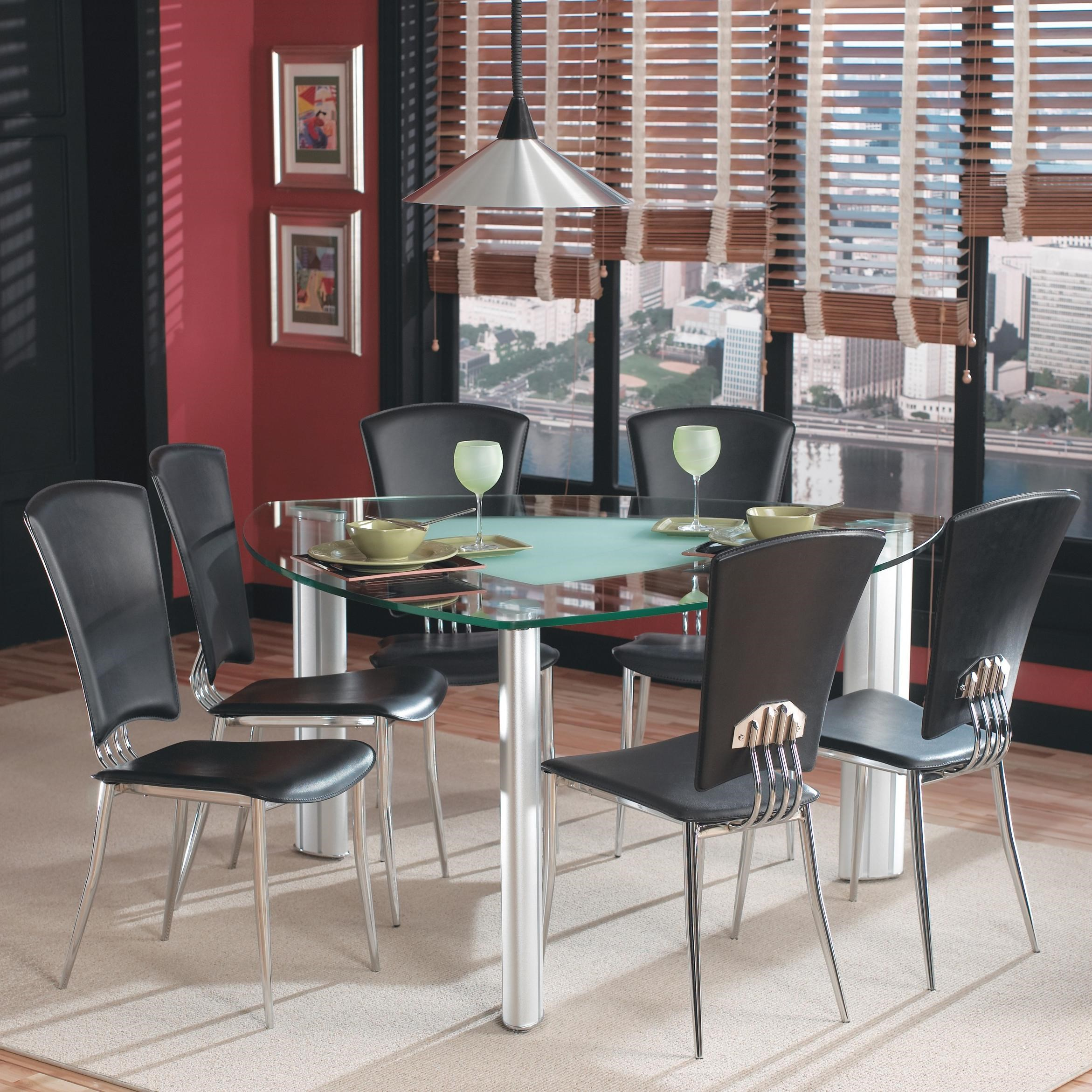 Chintaly Imports Tracy Leg Table W/ 6 Side Chairs   Hudsonu0027s Furniture    Dining 7 (or More) Piece Set