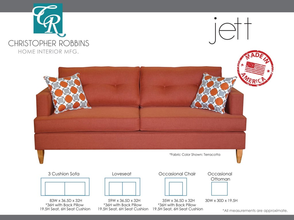 Christopher Robbins Jett3 Cushion Sofa