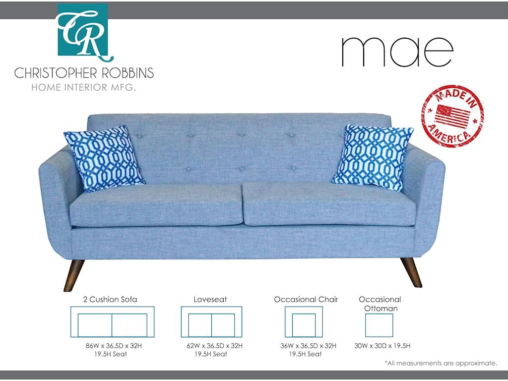 Christopher Robbins Mae2 Cushion Sofa