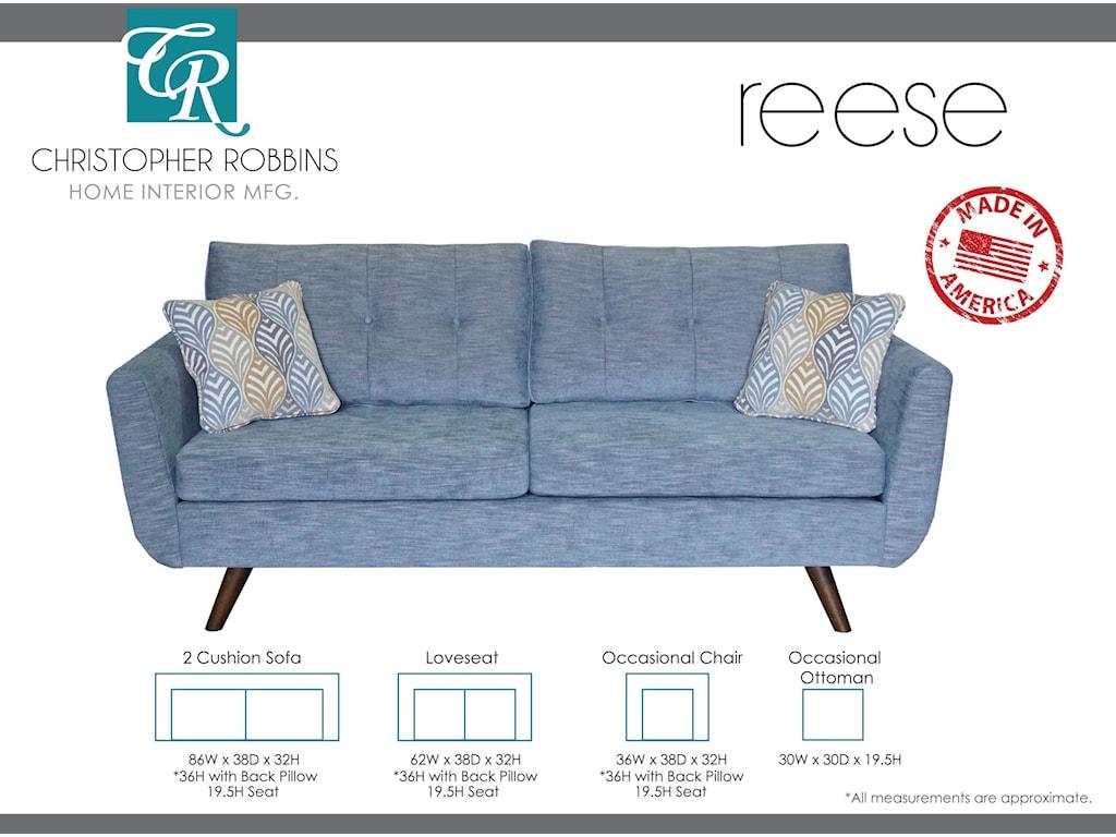 Christopher Robbins Reese2 Cushion Sofa