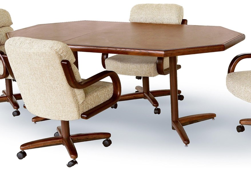 Vintage Oval Table And Chairs Dinette Set By Chromcraft Two Of The Four Swivel Have Minor Damage To Upholstery But All Roll Move